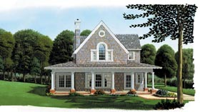 Cottage Country Craftsman Farmhouse House Plan 95541 Elevation