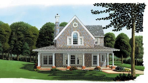 Cottage country craftsman farmhouse house plan 95541 for Farmhouse cottage house plans
