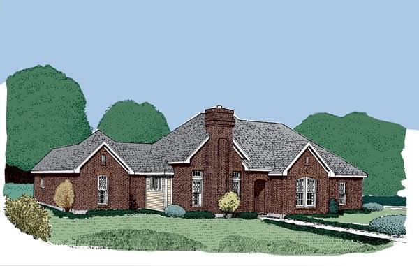European House Plan 95542 Elevation