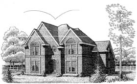 House Plan 95543 | European Style House Plan with 3472 Sq Ft, 4 Bed, 4 Bath Elevation