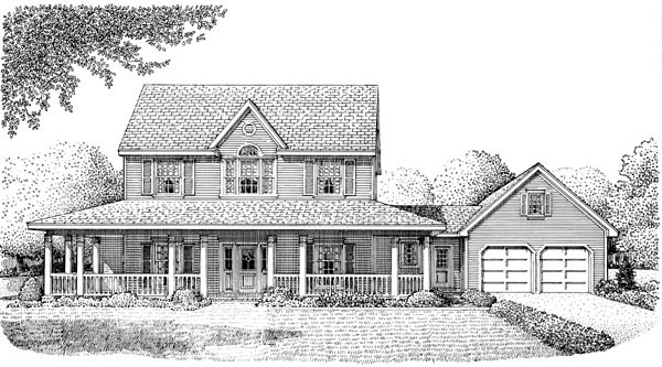 Country Farmhouse House Plan 95545 Elevation