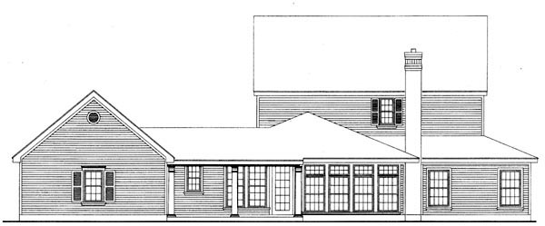 Country Farmhouse House Plan 95545 Rear Elevation