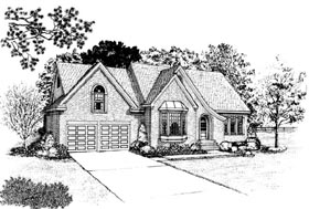 European House Plan 95546 Elevation