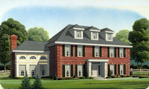 Colonial European House Plan 95548 Elevation