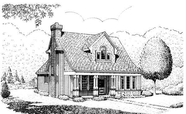 Country House Plan 95554 Rear Elevation