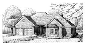 European House Plan 95556 Elevation