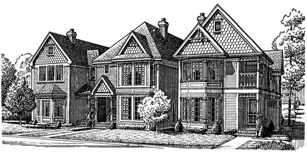 Country Victorian Elevation of Plan 95557