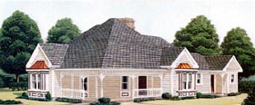 Country Farmhouse Victorian House Plan 95559 Elevation
