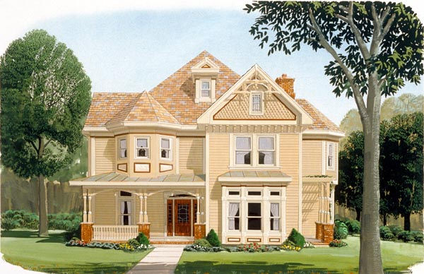 Country Farmhouse Victorian House Plan 95560 Elevation