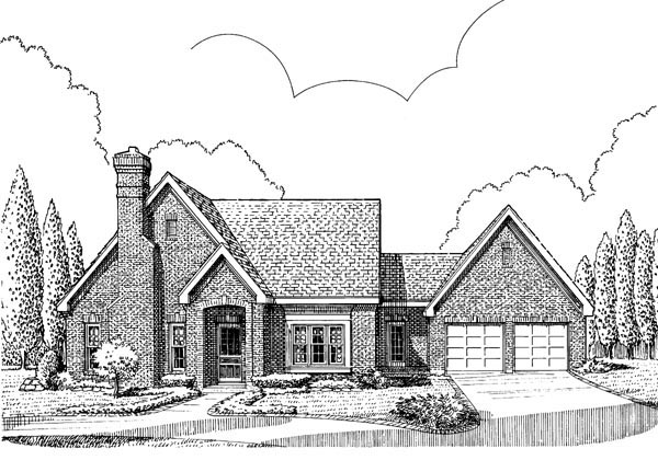 European House Plan 95561 Elevation