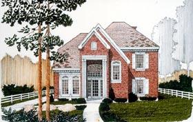 European House Plan 95565 Elevation
