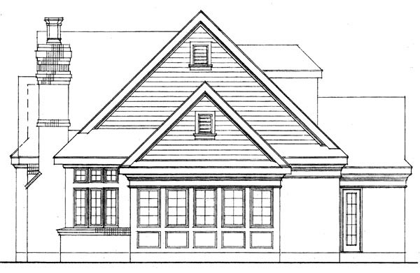 European House Plan 95566 with 3 Beds, 3 Baths, 2 Car Garage Picture 1