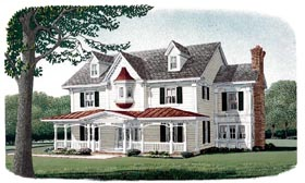 Victorian , Farmhouse , Country House Plan 95573 with 4 Beds, 4 Baths, 2 Car Garage Elevation