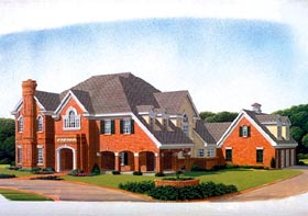 European House Plan 95579 with 5 Beds, 7 Baths, 3 Car Garage Elevation