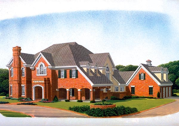 European House Plan 95579 Elevation