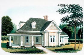 Country Farmhouse Victorian House Plan 95582 Elevation