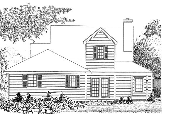 Country Farmhouse Southern House Plan 95583 Rear Elevation