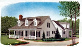 Country Southern House Plan 95585 Elevation