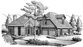 European House Plan 95590 Elevation