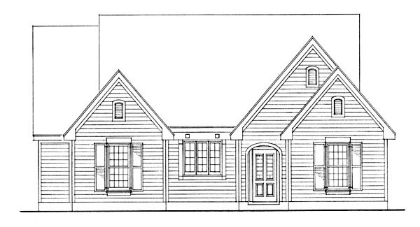 Country House Plan 95591 with 2 Beds, 1 Baths Picture 1