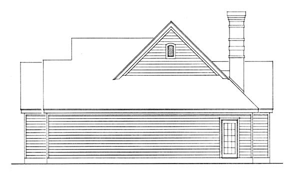Country House Plan 95591 with 2 Beds, 1 Baths Picture 2