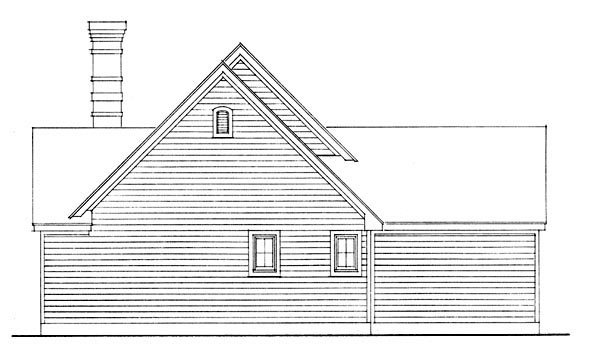 Country House Plan 95591 with 2 Beds, 1 Baths Picture 3