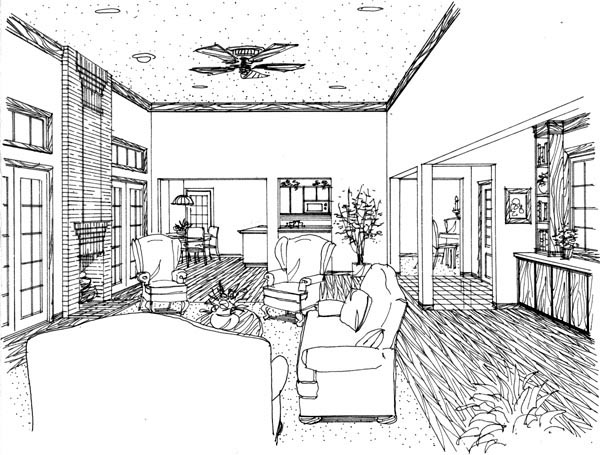 Country House Plan 95591 with 2 Beds, 1 Baths Picture 4