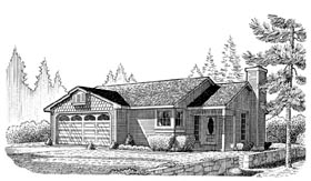 Plan Number 95596 - 1060 Square Feet