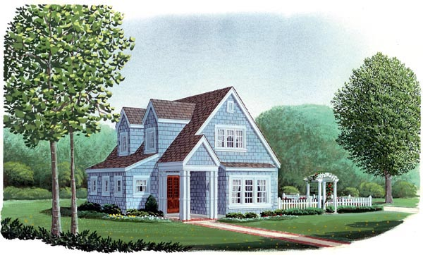 Country , Craftsman , Narrow Lot , Elevation of Plan 95600