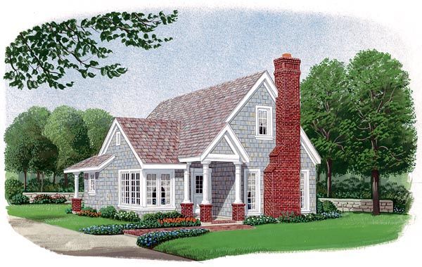 Country , Craftsman , Elevation of Plan 95601