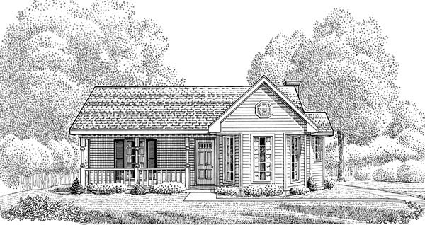 Country House Plan 95602 Elevation