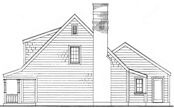 Bungalow, Country, Craftsman House Plan 95607 with 3 Beds, 2 Baths, 2 Car Garage Picture 4