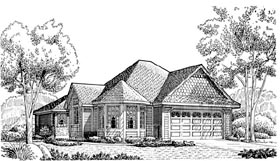 Victorian House Plan 95609 Elevation