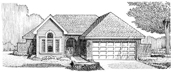 One-Story , Elevation of Plan 95610