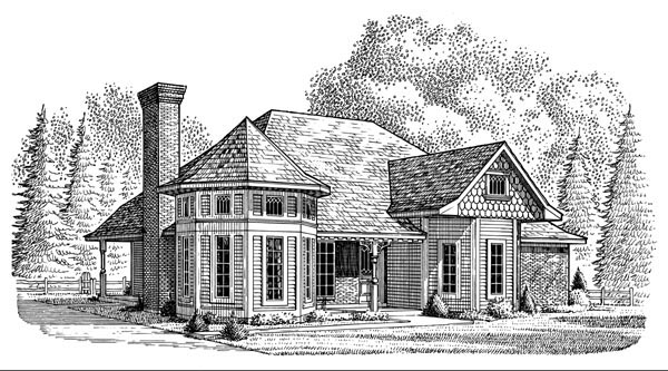 Country Victorian House Plan 95614 Elevation