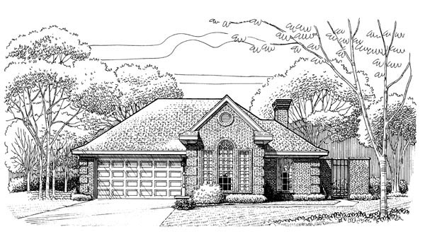 European House Plan 95615 Elevation