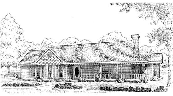 Country Farmhouse Victorian House Plan 95616 Elevation