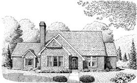 Cottage Craftsman House Plan 95617 Elevation