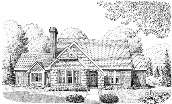 Cottage Craftsman House Plan 95617 Elevation