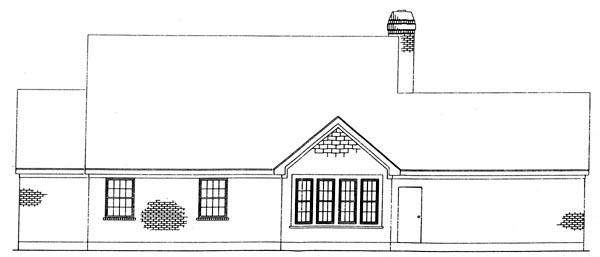 Cottage Craftsman House Plan 95617 Rear Elevation