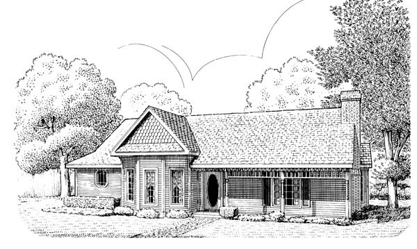 Country Victorian House Plan 95618 Elevation