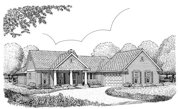 Colonial Country House Plan 95619 Elevation