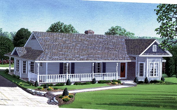 Country Farmhouse Victorian House Plan 95623 Elevation