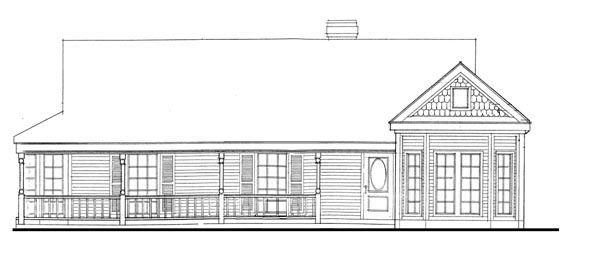 Country Farmhouse Victorian House Plan 95623