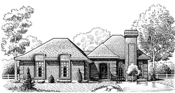 European House Plan 95624 Elevation