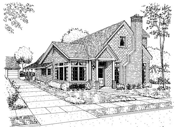 Craftsman European House Plan 95626 Elevation