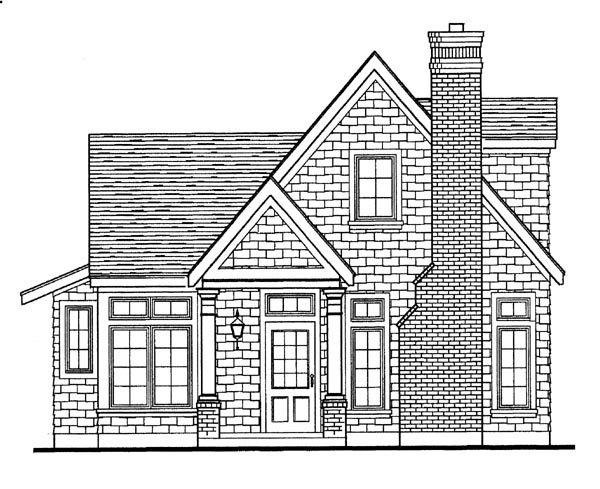 Craftsman, European, Narrow Lot House Plan 95626 with 3 Beds, 2 Baths, 2 Car Garage Picture 1
