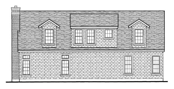 Craftsman, European, Narrow Lot House Plan 95626 with 3 Beds, 2 Baths, 2 Car Garage Picture 2