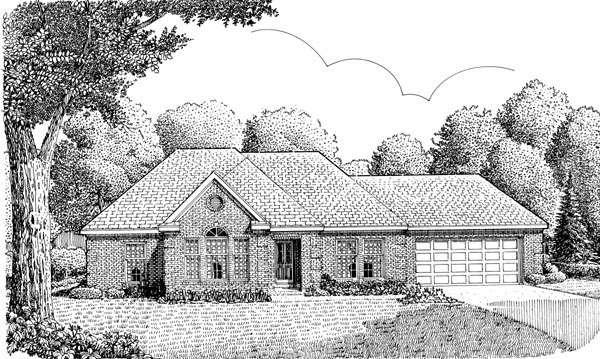 European , One-Story , Elevation of Plan 95629