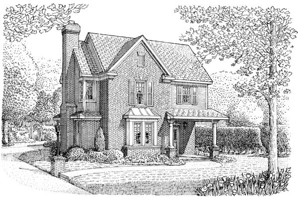 Country European House Plan 95631 Elevation